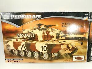 Mega Bloks Probuilder M1A1 Abrams Tank Set 9734 Building Blocks COMPLETE READ!