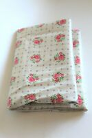 """31"""" X 35"""" Scrap of VTG 1950s Waterproof Cotton Shabby Chic OIL CLOTH Fabric"""