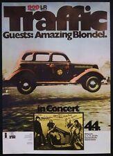 Traffic 1973 Saarbruck West Germany Concert Poster