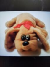 Pound Puppy Plush 1985 Tonka Brown w Red Collar Vintage
