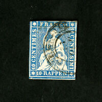 Switzerland Stamps # 16 VF Used Catalog Value $85.00