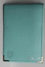 ASPINAL OF LONDON A7 Blue Leather Pocket Memo Notepad  Cover Embossed ZW-A NEW