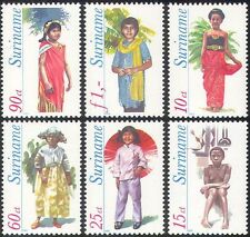 Surinam 1980 Costumes/Clothes/Dress/Textiles/Design/Art/People 6v set (n42207)