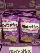2 Cases Of 8 (16) Metcalfe's Skinny Popcorn Sweet and Salt, 80 g BB 04.07.2020