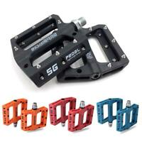 2x Nylon Fiber MTB Mountain Road Bike Pedals Flat Platform Bicycle Bearing Pedal