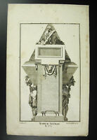 Tombeau Antique Burial Delafosse Engraving 18th Hertel Greek Tomb Falls, Greek
