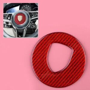 Steering Wheel Center Logo Decoration Trim Cover Fit For Porsche Macan 2014-2020