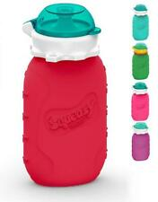 Squeasy Snacker, 180ml - Gourde Réutilisable en Silicone pour Compotes Rouge