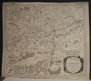 NAMUR WALLONIA BELGIUM 1659 SANSON/MARIETTE UNUSUAL ANTIQUE COPPER ENGRAVED MAP