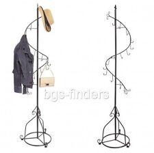 Coat Spiral Hanger Stand Clothes Bag Display Garment Rack Hanger Metal 14 Hook