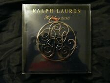 RALPH LAUREN HOLIDAY Christmas ORNAMENT 2010 Silver Metal Red Ribbon PRL Crest