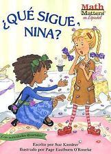 Que Sigue, Nina? = What's Next, Nina? (Math Matters (Kane Press-ExLibrary