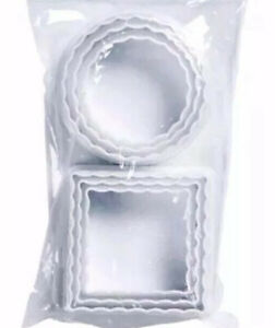 Pack Of  6 Piece Crinkle Pastry Cutter Set, White
