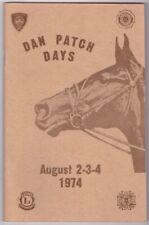 Dan Patch Days Program August 1974 Savage Minnesota MN Harness Racing Horse a