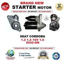 FOR SEAT CORDOBA 1.2 1.4 16V 1.6 2002-ON STARTER MOTOR BRAND NEW 1.1kW 10-Teeth