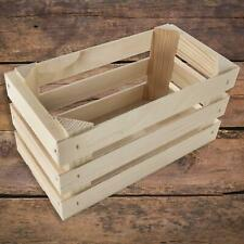 Small Rectangular Wooden Display Presentation Crate Box | 23.5 x 12 x 12 cm