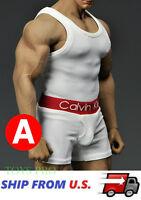 1//6 Men Tank Top Underwear Set C For Phicen M30 M31 M32 Male Figure Body ❶USA❶