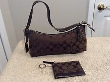 """COACH Brown/Brown Signature Purse & ID/Coin Holder. 10"""" x 5"""" Excellent Condition"""