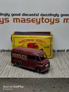 MATCHBOX LESNEY No.69a Commer Nestlé  Van GPW Original vintage diecast