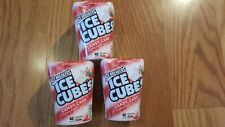 Lot of 3 Ice Breakers Ice Cubes Candy Cane Gum 120 Pieces 02/2021