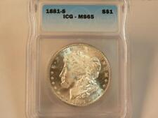 1881 S MORGAN ICG MS65 VERY CLOSE TO PL