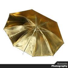 Photography - Umbrella Flash Light Reflective Black / Gold - for Photo Studio