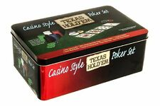 Casino Style 200 Piece Poker Chip Set Texas Hold'em Poker Casino Game in Case