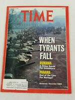 When Tyrants Fall - Rumania, Panama Time Magazine January 8, 1990