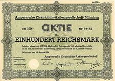 Amperwerke Elektricitäts-AG 100 RM 1934 München