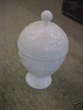 3 Vintage Avon Candy Dish White glass Nice