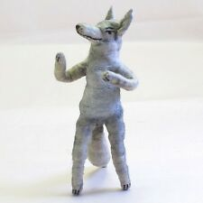 Vintage by Crystal: Miniature Spun Cotton Wolf Figure