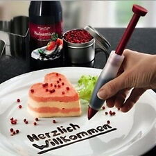 Silicone Make Cake Cookie Pastry Cream Chocolate Icing Decorate Syringe Pen DIY
