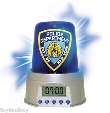 NYPD New York Police Department Flashing Emergency Light Alarm Clock New