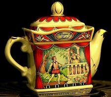 More details for vintage porcelain sadler teapot - romeo and juliet (shakespeare) boxed brown