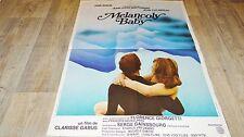 jane birkin MELANCOLY BABY  !  trintignant affiche cinema vintage 1979
