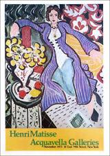"Henri Matisse Purple Robe 1978 Poster Print Art 16"" x 11"""