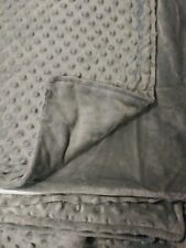 "New Without Tags Weighted Blanket Duvet Cover Only, Plush Minky Gray, 60"" x 84"""