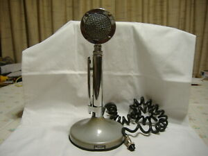 Vintage Astatic Model D-104 Lollipop Microphone With T-UG8 Stand