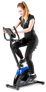 Heimtrainer Onyx von Hop-Sport Ergometer Fitnessgerät Fitnessbike blau