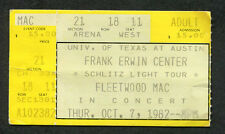 Original 1982 Fleetwood Mac Concert Ticket Stub Austin TX The Mirage Tour