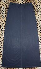 J CREW Black Slinky Pencil Maxi Skirt Cruise Pool Sz M Drawstring Elastic Waist
