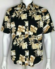 Prop Plane BiPlane Trans-Atlantic Hawaiian Shirt by Royal Palm Men's Size S EUC