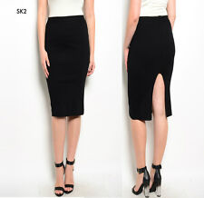 SK2 New Womens Black Size 16-20 Office Work Day Pencil Bodycon Sexy Skirts Plus