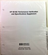 HP 8510C Performance Verifcation & Specfications Supplement P/N 08510-90349