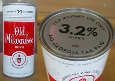 1975 OLD MILWAUKEE BEER - FOR MILITARY USE ONLY - 6 CITIES - 14 oz Pull Tab Can