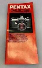 Pentax ME Super 35mm Camera SLR Brochure Japan Made
