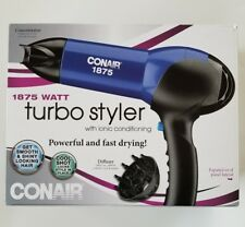 Conair 146NP 1875 Watt Turbo Hair Dryer; Blue / Black (L-57)