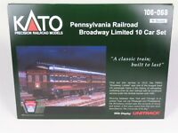 N Scale Kato 106-068 PRR Pennsylvania Broadway Limited 10-Car Passenger Set
