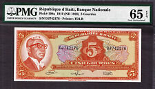 Haiti 5 Gourdes L.1919 ND (1968) Pick-198a GEM UNC PMG 65 EPQ