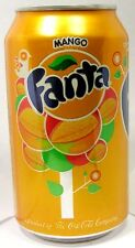 EMPTY UNOPENED 12oz 355ml Can Coca-Cola's Fanta Mango Limited Edition USA 2015